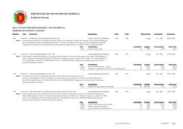 Empenhos Emitidos - Maio - Prefeitura - Maringá