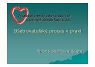 Ošetrovateľský proces v praxi - vusch