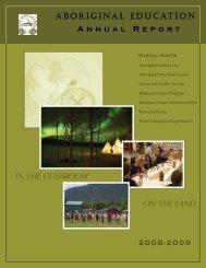 Aboriginal Education Annual Report - School District 22 Vernon