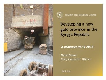 Chaarat Gold One2One Investor Presentation - Proactive Investors