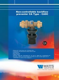 Non-controllable backflow preventer CA Type ... - Watts Industries