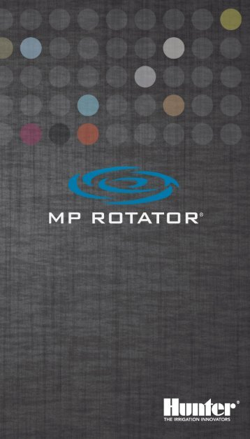 MP Rotator Basic Fundamentals Pocket Reference - Hunter Industries