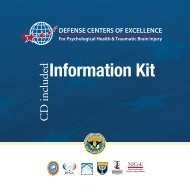 DCoE Information Kit - Defense Centers of Excellence - Health.mil