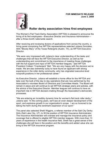 Roller derby association hires first employees - Women's Flat Track ...