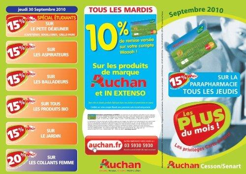 Carte Accord Auchan Compte Waaoh.15 Auchan