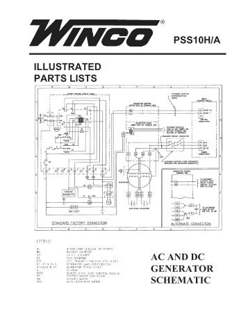 Illustrated parts lists ac and dc generator winco generators 60701 133 parts list pss10ha winco generators asfbconference2016 Image collections