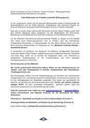 Video-Dokumente von Projekten kultureller Bildung gesucht - ITI