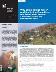 Why Some Village Water and Sanitation Committees are ... - WSP