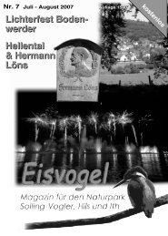 Eisvogel - 2. Jahrgang, Ausgabe 7, Juli-August 2007