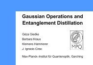The characterization of Gaussian operations and ... - Quiprocone