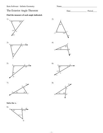 Mathworksheets4kids Triangle Interior Angle Angles Worksheetsinterior Vs Exterior Of A Polygon