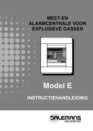 voorpaneel centrale model e - Dalemans Gas Detection