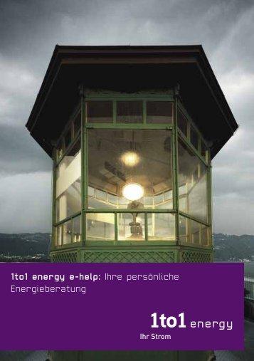 1to1 energy e-help: Ihre persönliche Energieberatung