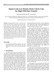 Quasi Cyclic Low Density Parity Check Code for ... - Radioengineering