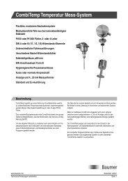 CombiTemp Temperatur Mess-System - Baumer
