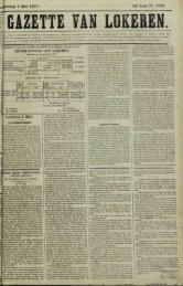 _ Zondag 6 Mei 1877. 34* Jaar N° 1759. Lokeren 5 Mei. 'wee maal ...
