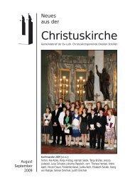 Gemeindebrief August und September 2009 als pdf