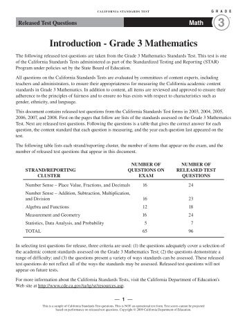 Grade 3 Math Released Test Questions Kids Newsroom