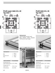 Profil super lekki 40 x 40 Typ C03–1 Profil lekki 40 x 40 Typ C02–1
