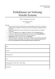 Probeklausur zur Vorlesung Verteilte Systeme - Universität Trier