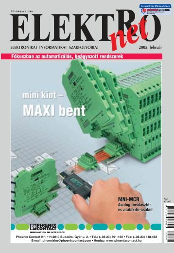 ELEKTROnet 2005_1.qxd - PHOENIX CONTACT   Magyar honlap