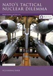 nAto's tActIcAL nucLEAR DILEMMA - RUSI