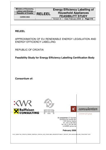 Energy Efficiency Labelling of Household Appliances ... - RELEEL