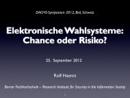 Prof. Dr. Rolf Haenni, Research Institute for Security in the Information