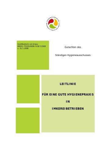 Leitlinie für Almen zur Umsetzung der Verordnungen ... - Vorarlberg