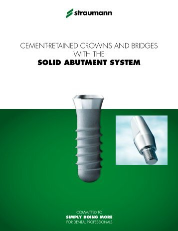 CALIT045 Solid Abutment Technical Manual - Straumann Canada