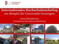 Internationales Hochschulmarketing -am Beispiel der Universität ...