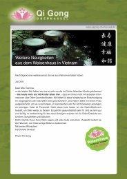 Weitere Neuigkeiten aus dem Waisenhaus in Vietnam - Qi Gong ...