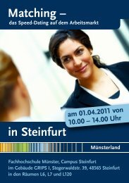 Matching – in Steinfurt