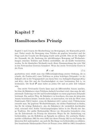 Kapitel 7 Hamiltonsches Prinzip