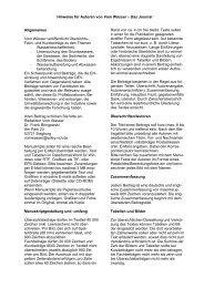 Hinweise für Autoren von Vom Wasser – Das Journal ... - Wiley-VCH