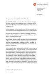 Managementwechsel bei Papierfabrik Scheufelen Papierfabrik ...