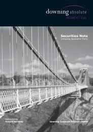 Securities Note - The Tax Shelter Report