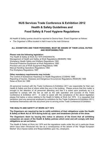 Wa Health Food Hygiene Regulations