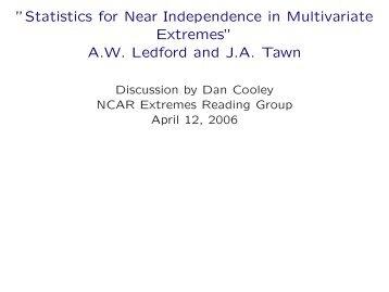 AW Ledford and JA Tawn