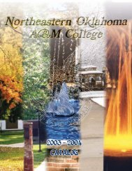 2003/04 catalog (1mb .pdf) - Northeastern Oklahoma A&M College