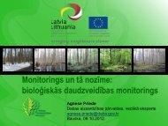 Monitorings un tā nozīme - Dabas aizsardzības pārvalde