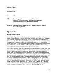 Big Fish Lake - Southwest Florida Water Management District