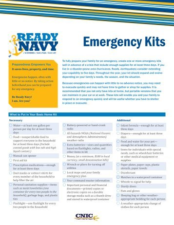 Emergency Kits - Ready.gov