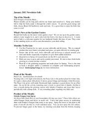 January 2011 Newsletter Info Tip of the Month - Spruce It Up Garden ...