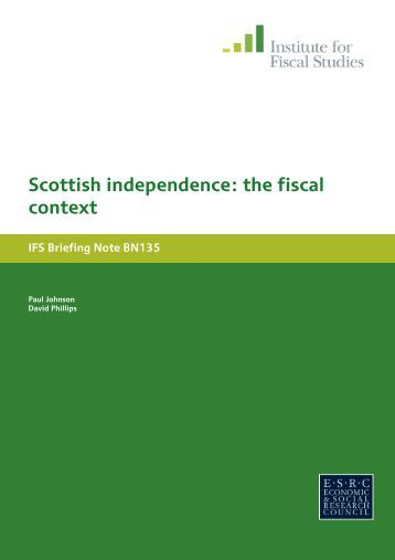 Scottish independence - The Institute For Fiscal Studies