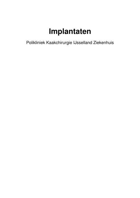 Implantaten - IJsselland Ziekenhuis