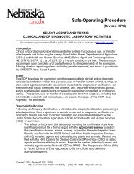 Clinical and/or Diagnostic Laboratory Activities - Environmental ...