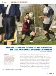 a consensus statement - American Orthopaedic Society for Sports ...
