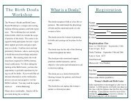 doula flier.pub - the Women's Health and Birth Center