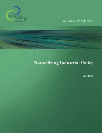 Normalizing Industrial Policy